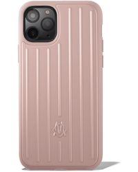 RIMOWA Custodia con scanalature rosa Desert Rose per iPhone 11 Pro