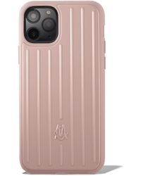 RIMOWA Polycarbonate Desert Rose Pink Groove Case For Iphone 11 Pro