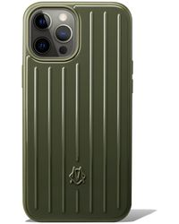 RIMOWA Polycarbonate Cactus Green Groove Case For Iphone 12 Pro Max