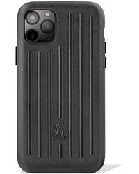 RIMOWA Coque en cuir pour iPhone 11 Pro - Noir