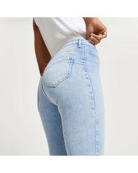 River Island Molly Mid Rise Skinny Bum Sculpt Jeans - Blue