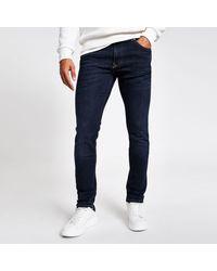 River Island Dark Sid Skinny Jeans - Blue