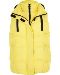 River Island | Yellow Double Layer Puffer Gilet Yellow Double Layer Puffer Gilet | Lyst