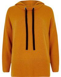 River Island - Petite Orange Knitted Hoodie - Lyst