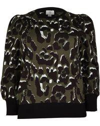 River Island Plus Khaki Leopard Print Sweatshirt - Black