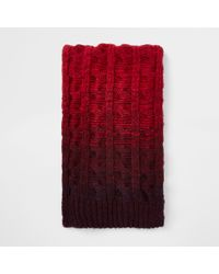 River Island - Ombre Knit Scarf - Lyst