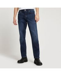 River Island Blue Dean Straight Jeans