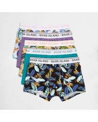 River Island - Floral Tropical Print Hipsters Multipack - Lyst