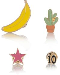 River Island - Yellow Banana Badge Set - Lyst