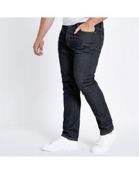 River Island - Big And Tall Dark Blue Seth Slim Fit Jeans - Lyst
