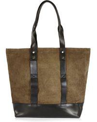 River Island Dark Green Leather Tote Bag