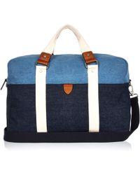 River Island Blue Denim Holdall Bag