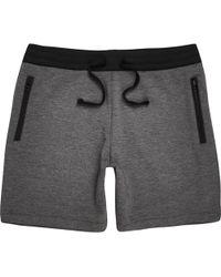 River Island Gray Jogger Shorts