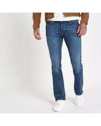 River Island - Blue Bootcut Jeans - Lyst