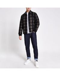 Only & Sons River Island Gray Check Jacket