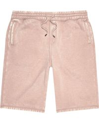 River Island Pink Burnout Jogger Shorts