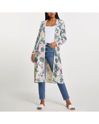 River Island Pink Floral Sequin Duster