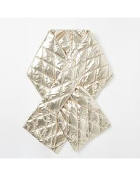 River Island Metallic Quilted Scarf