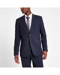 River Island - Tailored Suit Jacket - Lyst