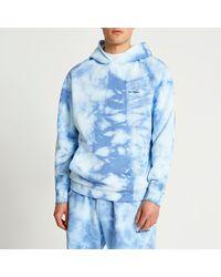 River Island Blue Tie Dye Hoodie