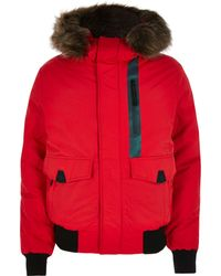 River Island - Superdry Red Everest Bomber Jacket - Lyst