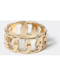 River Island Gold Color Chain Link Ring - Yellow