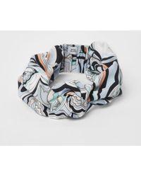 River Island - Blue Swirly Print Knot Front Headband - Lyst