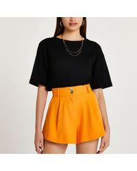 River Island Orange Structured Shorts