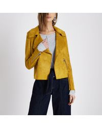 River Island | Mustard Yellow Faux Suede Trench Jacket Mustard Yellow Faux Suede Trench Jacket | Lyst
