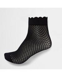 River Island - Scallop Edge Ankle Socks - Lyst