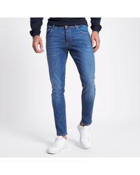 River Island - Mid Eddy Skinny Fit Jeans - Lyst