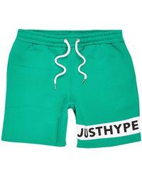 Hype Hype Green 'just Hype' Logo Shorts