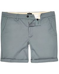 River Island Big And Tall Blue Skinny Fit Chino Shorts