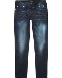 River Island - Pepe Jeans Blue Stanley Dusk Jeans - Lyst