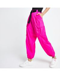 River Island Belted Utility Pants - Pink