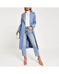 f861c721c Light Blue Longline Coat