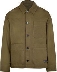 River Island Big & Tall Khaki Long Sleeve Jacket - Natural