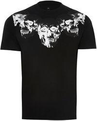 River Island Black Skull Print Slim Fit T-shirt