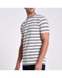Minimum - Stripe T-shirt - Lyst