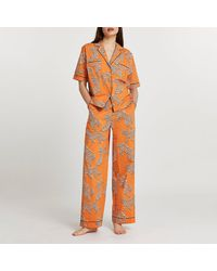 River Island Orange Leopard Printed Pajama Pants
