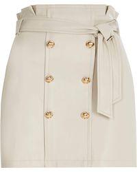 River Island Petite Cream Button Through Mini Skirt - Natural