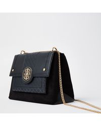 River Island Black Gold Chain Shoulder Bag