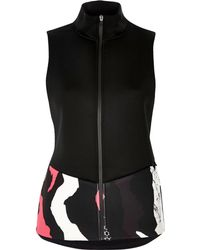 River Island - Ri Active Black Print Sports Gilet - Lyst