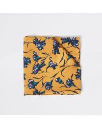 River Island - Yellow Floral Handkerchief - Lyst