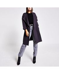 River Island Open Front Duster Jacket - Grey