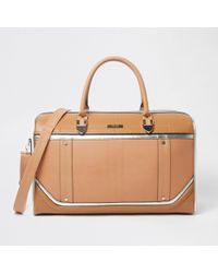 River Island - Beige Cutabout Holdall - Lyst