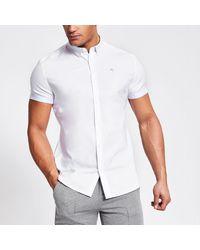 River Island Maison Riviera White Slim Fit Oxford Shirt