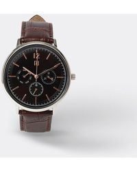 River Island Brown Leather Strap Watch