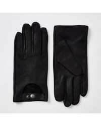 River Island - Leather Driving Gloves - Lyst