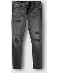 River Island Big & Tall Black Ripped Sid Skinny Jeans